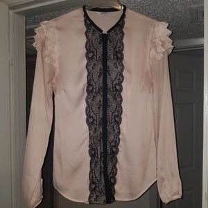 Beautiful polyester lite pink blouse